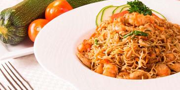 Chicken & Prawn Mongolian Noodles