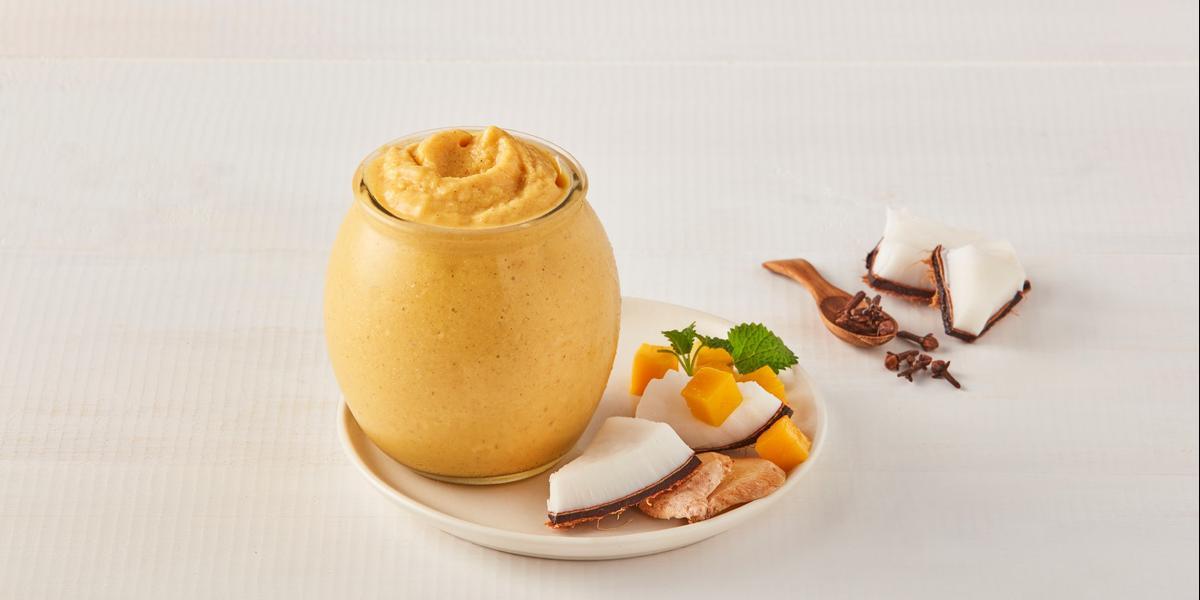 Smoothie de mango especiado