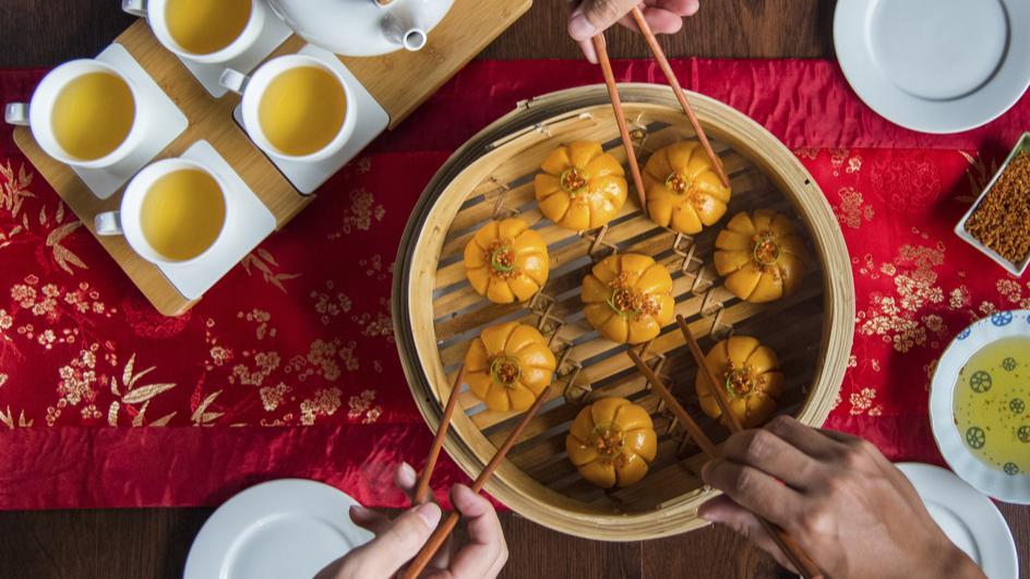 Dumpling Kukus Udang Keemasan