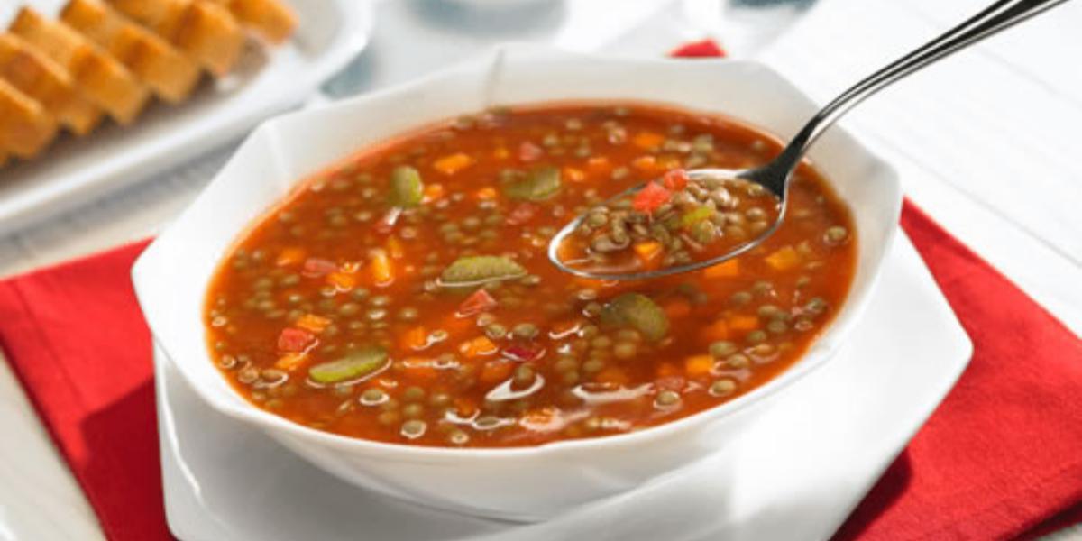 Sopa de Lentejas al Orégano