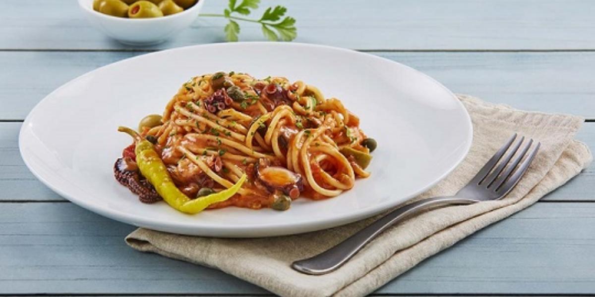 Spaguetti a la vizcaina