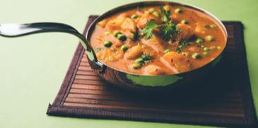 Odiya Style Soya Aloo Matar Recipe