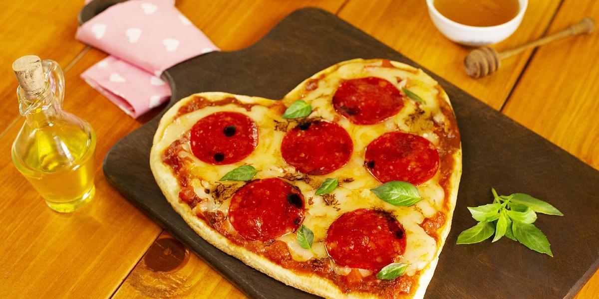 Pizza de corazón