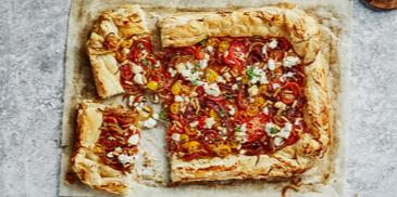 Cheese & Tomato Puff Pastry Pie