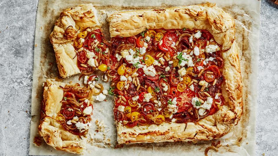 Cheese & Tomato Puff Pastry Pie