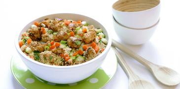 Couscoussalade met kip en groenten