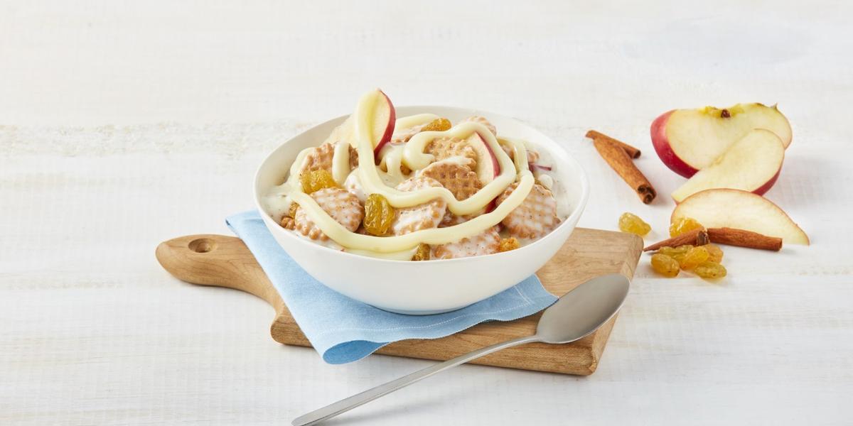 Bowl de galletas con manzana canela