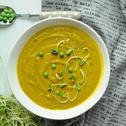 Zupa krem z groszku i marchewki