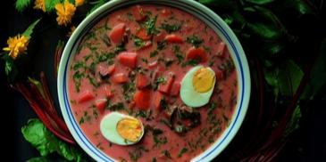 Zupa z botwiny z ziemniakami i koperkiem