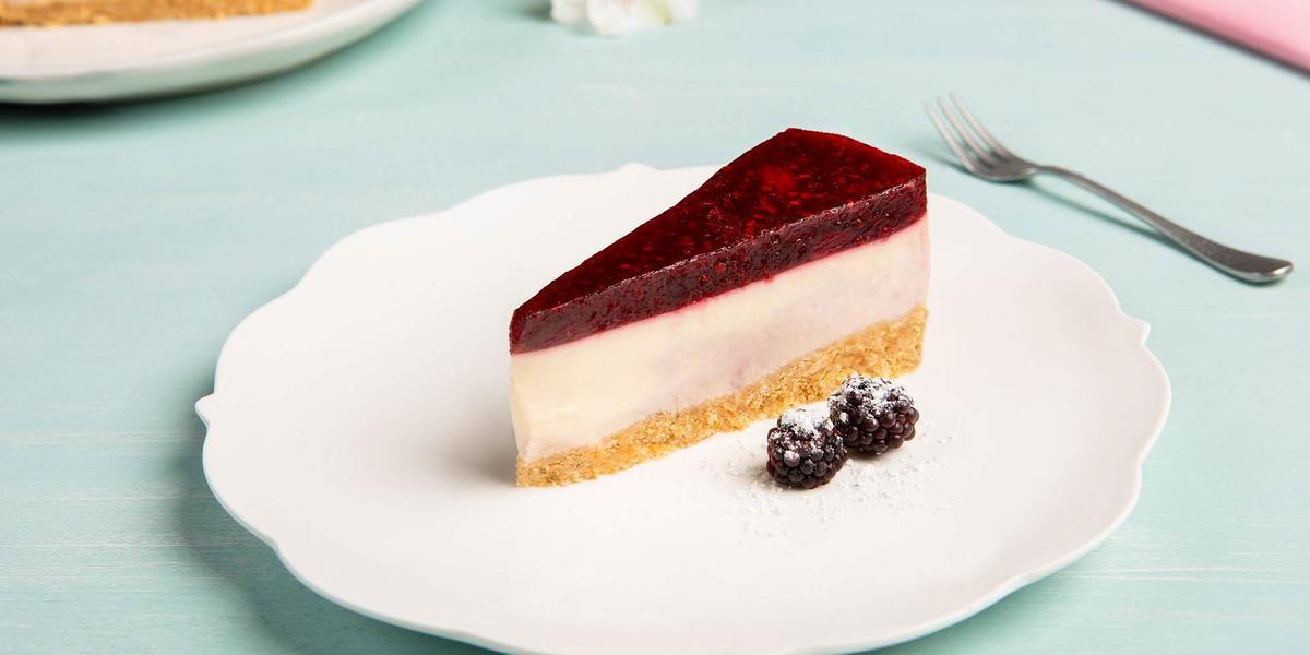 Cheesecake de mora sin horno
