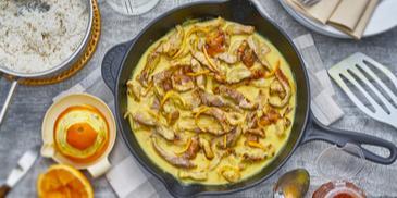 Fruchtiges Curry-Geschnetzeltes
