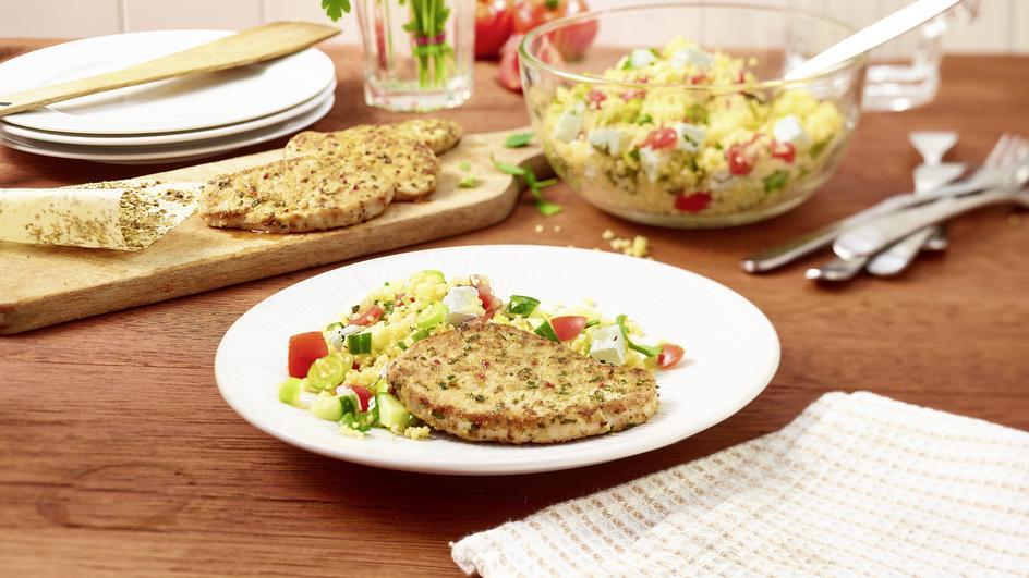 Couscous Salat mit Fetakäse