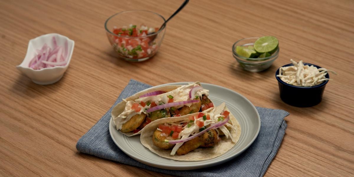 Tacos de vegetales estilo Ensenada