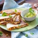 Süßkartoffel-Quesadilla mit Guacamole
