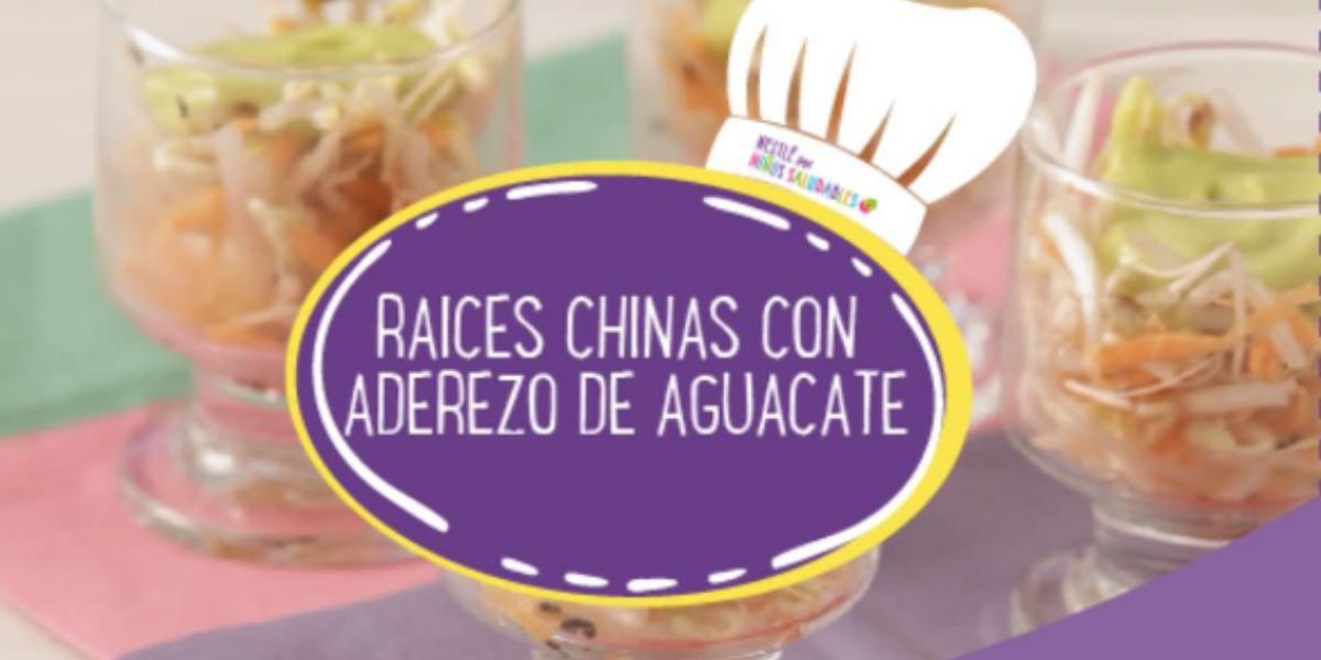 RAÍCES CHINAS CON ADEREZO DE AGUACATE