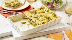 Lasagne mit grünem Spargel