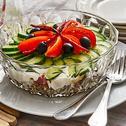 Griechischer Schichtsalat
