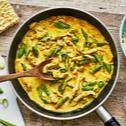 Curry-Geschnetzeltes mit süßem Senf