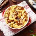 Schupfnudel-Gratin mit Pilzen