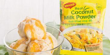 Coconut ice-cream with Mango cream