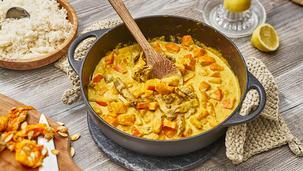 Kürbis-Curry-Geschnetzeltes