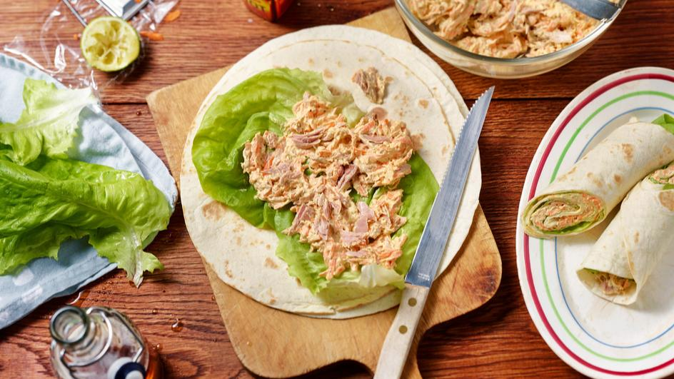 Wraps mit scharfer Thunfischcreme