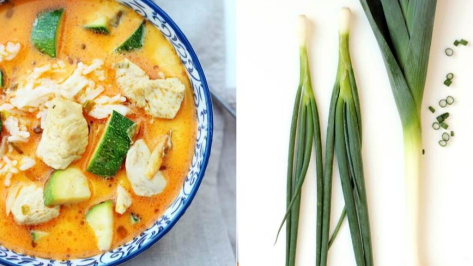 Letnia zupa tajska ze świeżymi warzywami
