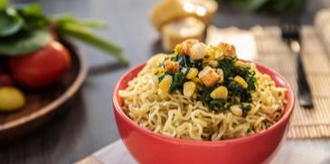 Creamy Spinach and Corn MAGGI Noodles Recipe