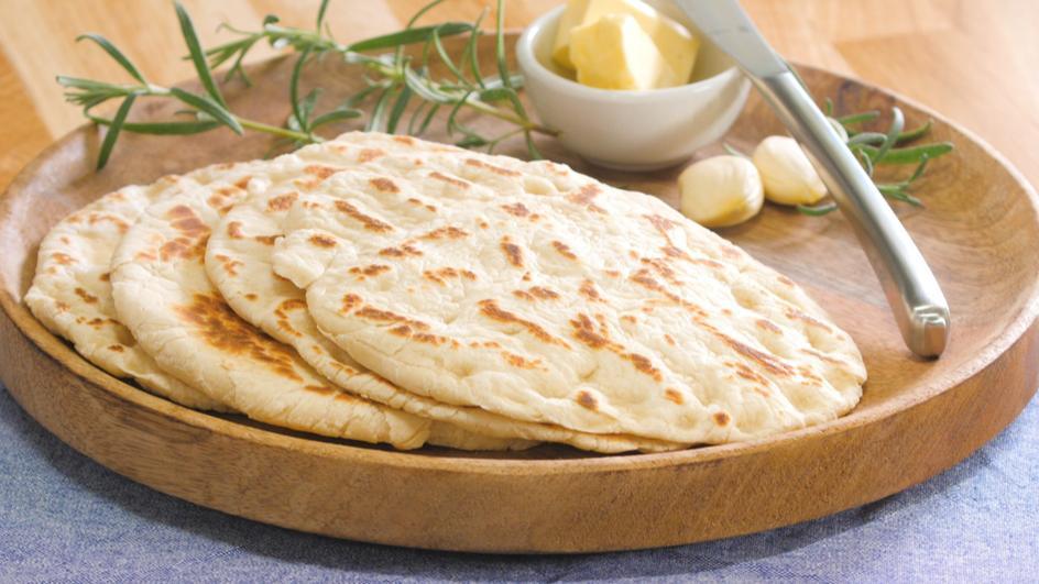 Naan Brot - Indisches Fladenbrot