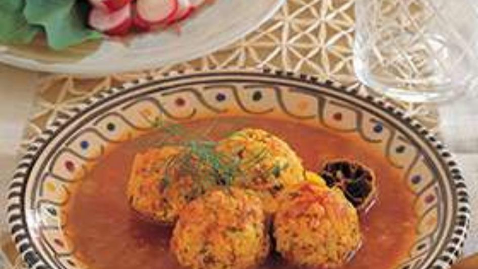 Chicken Balls with Tomato and Saffron