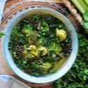 Zupa wegetariańska z zielonych warzyw