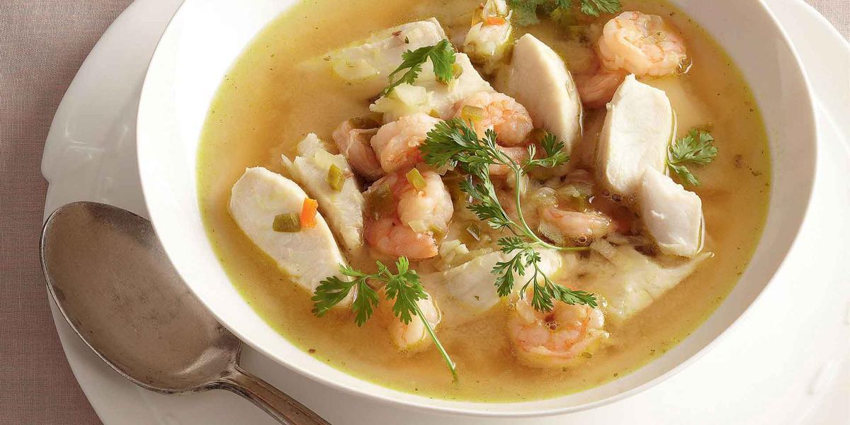 Sopa de pescado estilo thai