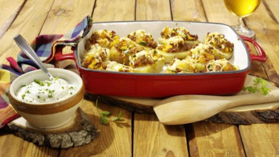 Gefüllte Kartoffeln Bauern Art