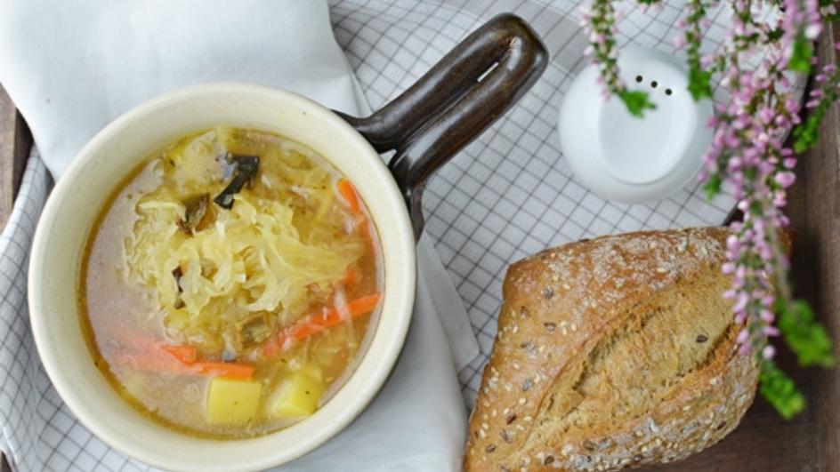 Kapuśniak wegetariańki z suszonymi grzybami