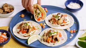 Savorventure Open Faced Pork Soft Taco Bites