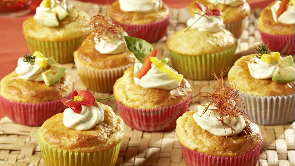 Mais-Chili-Cupcakes mit Avocado-Topping