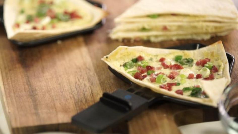 Schnelles Flammkuchen-Raclette