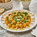 Mozzarella-Melonen-Spieße