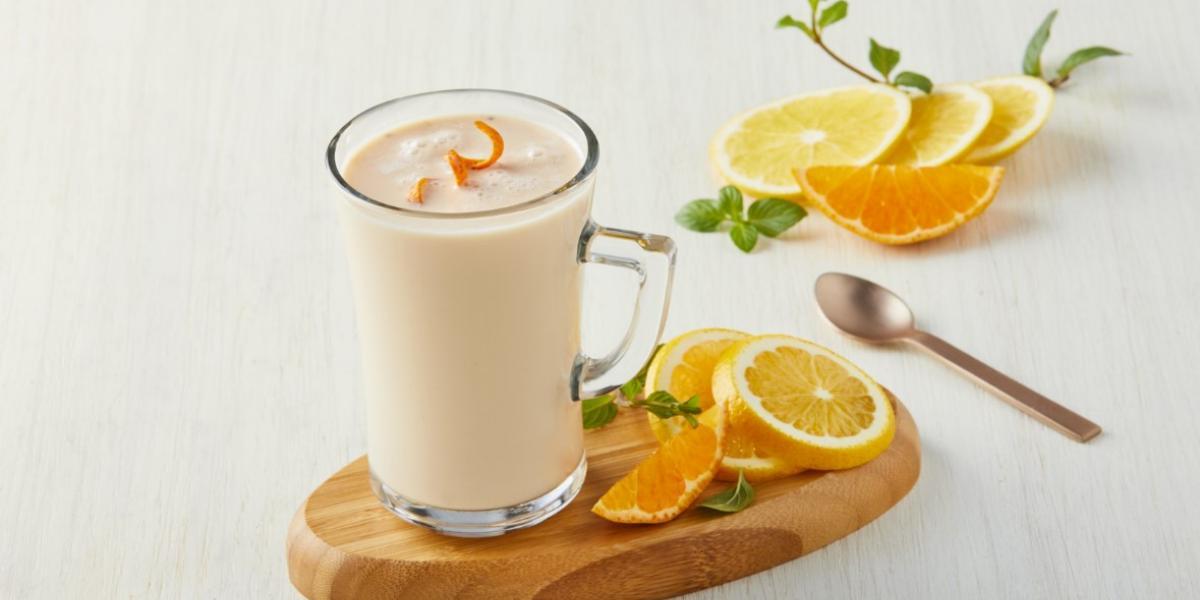 Atole de naranja y mandarina