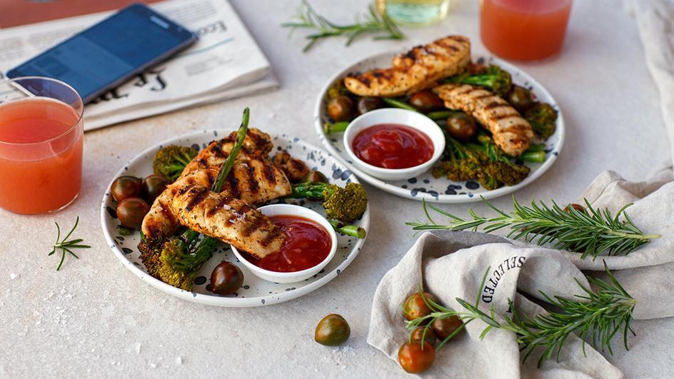 Vištienos kepsniukai su brokoliais