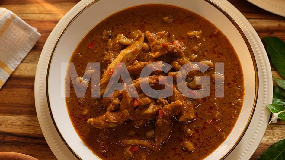 Banga soup beans combo