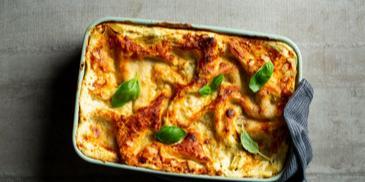 Vegetariška lazanija su rikotos sūriu