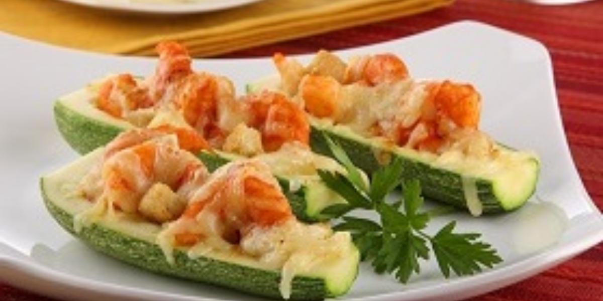 calabacitas grtinadas con camarones
