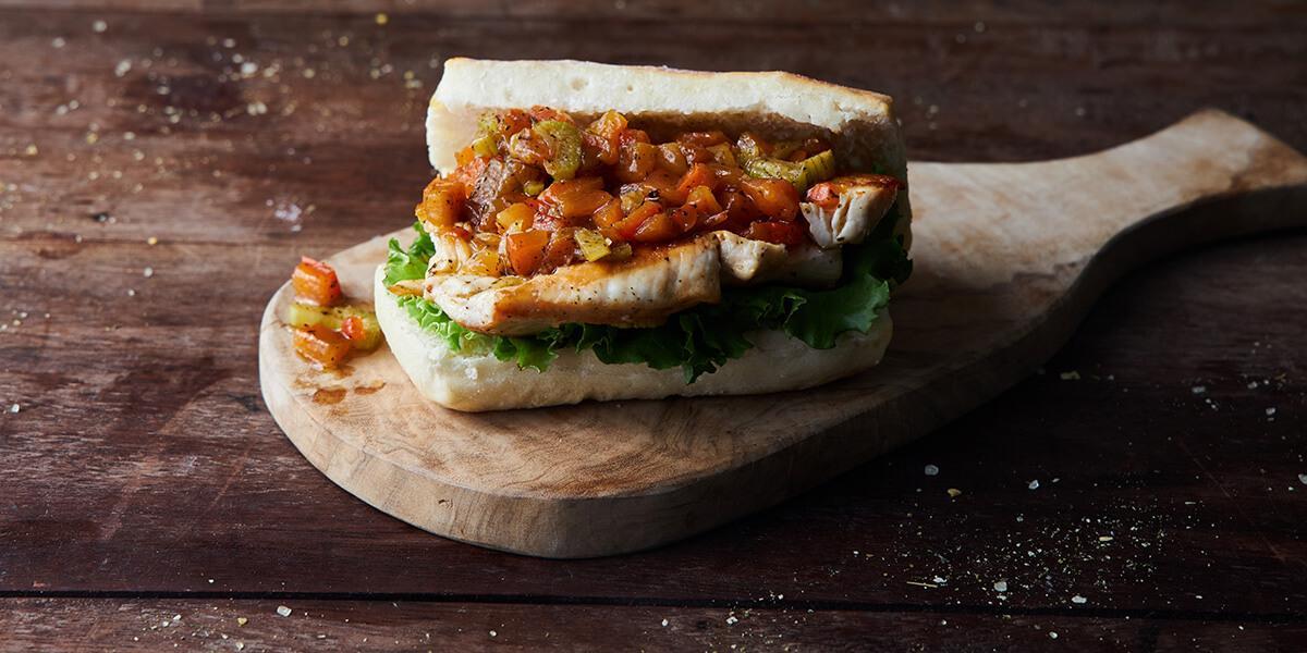 Sándwich de filete de pierna