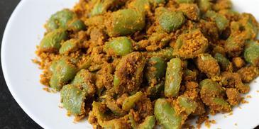 Capsicum Besan Bhaji Recipe