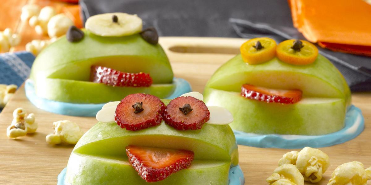 Manzanas Verdes Monstruosas de Halloween