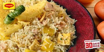 Chicken Ham and Pineapple Rice