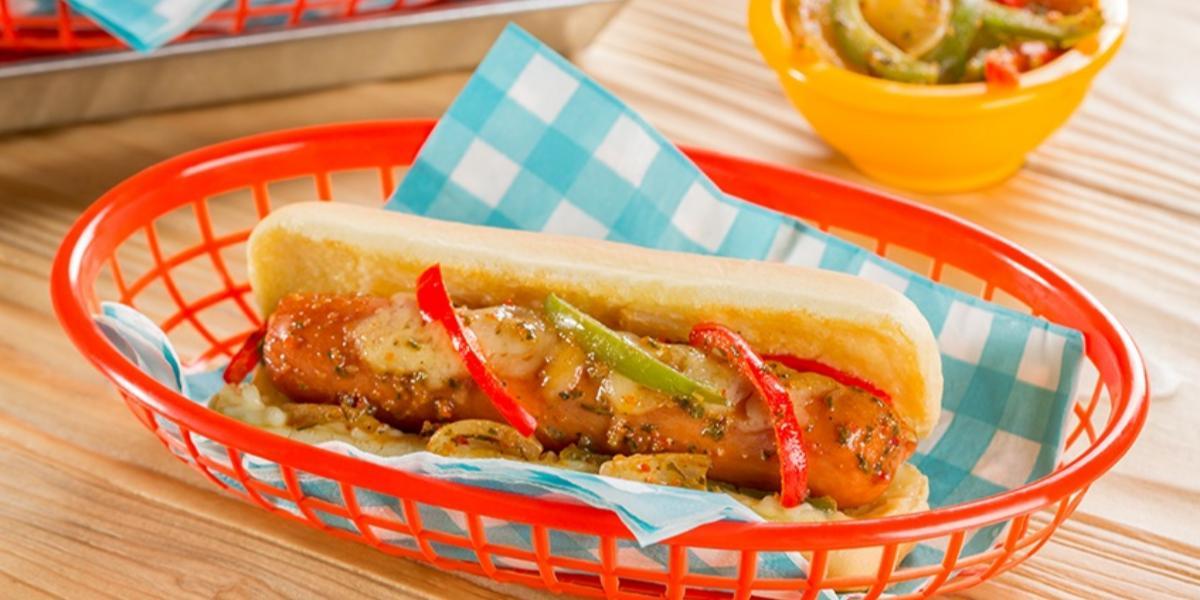 hot-dog a la leña