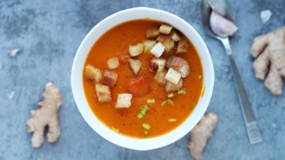 Zupa z dyni z imbirem i pomidorami