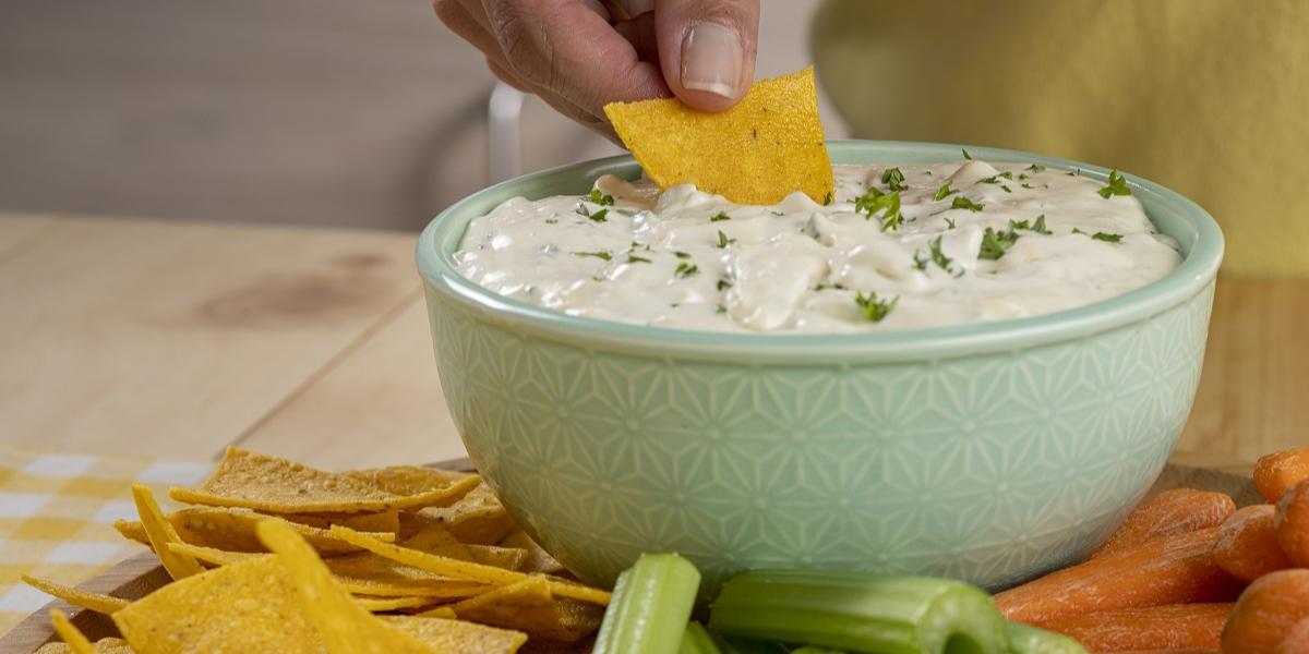Dip cremoso de queso azul